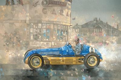 Blue and Yellow Maserati of Bira
