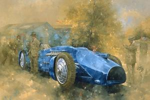 Bluebird at Brooklands by Peter Miller
