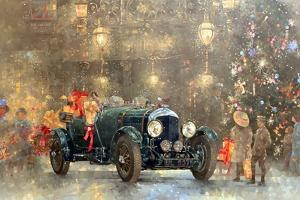 Christmas Bentley by Peter Miller