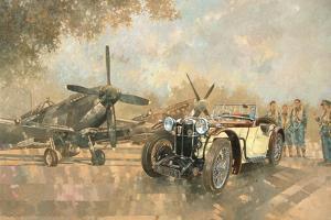 Cream Cracker MG 4 Spitfires by Peter Miller