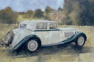The Green and White Bentley at Althorp by Peter Miller