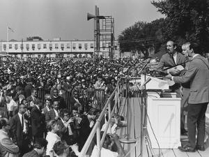 Peter, Paul, and Mary Singing at 1963 Civil Rights March on Washington