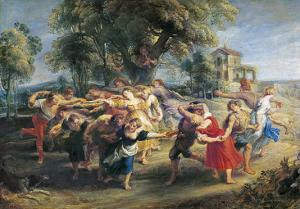 A Peasant Dance by Peter Paul Rubens