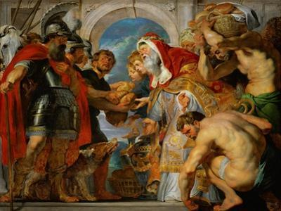 Abraham and Melchisedech. by Peter Paul Rubens