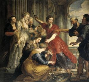 Achilles Discovered by Ulysses and Diomedes, 1617-1618. by Peter Paul Rubens