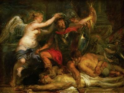 Coronation of the victor, around 1630 by Peter Paul Rubens