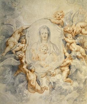 Image of the Virgin Portrayed with Angels by Peter Paul Rubens