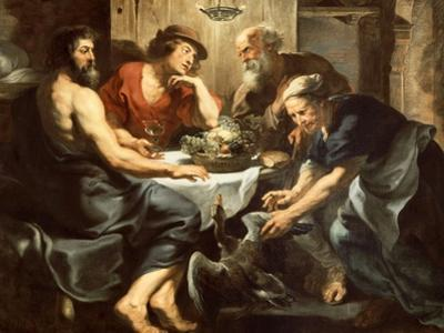 Jupiter and Mercury with Philemon and Baucis, 1620-1625 by Peter Paul Rubens