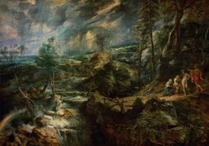 Landscape with Philemon and Baucis C.1625 by Peter Paul Rubens