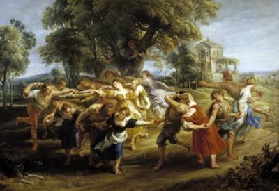 Peasant Dance, 1630-1635 by Peter Paul Rubens