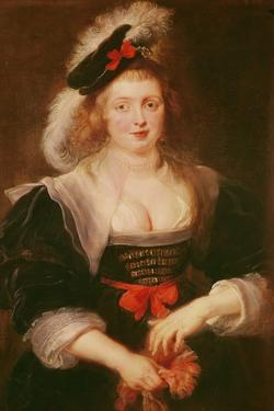 Portrait of Helene Fourment with Gloves, C.1632 by Peter Paul Rubens