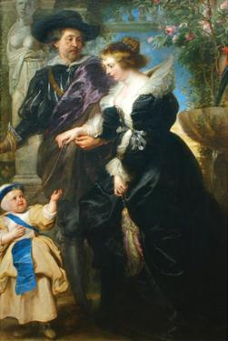 Rubens, His Wife Helena Fourment and One of the their Children by Peter Paul Rubens