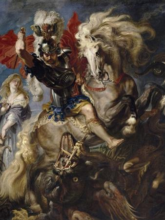 Saint George and the Dragon, 1606-1608 by Peter Paul Rubens