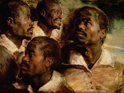 Studies of the Head of a Black Man