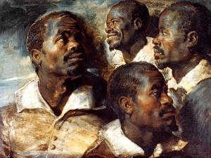 Studies of the Head of a Negro, 17th Century by Peter Paul Rubens