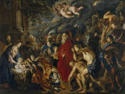 The Adoration of the Magi, 1610-1620S by Peter Paul Rubens