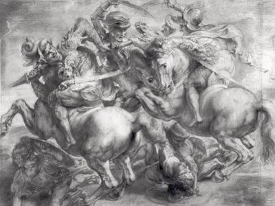 The Battle of Anghiari after Leonardo Da Vinci (1452-1519) by Peter Paul Rubens