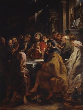 The Cenacle, Jesus and Apostles at the Table of the Last Supper, 1630-32 by Peter Paul Rubens