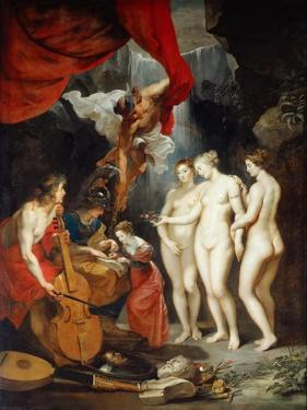 The Education of the Princess. (The Marie De' Medici Cycl) by Peter Paul Rubens