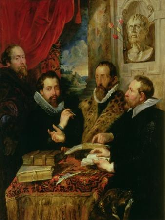 The Four Philosophers, the Artist, His Brother Philip, Justus Lipsius and Jan Van Der Wouwere by Peter Paul Rubens