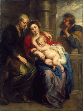 The Holy Family with St. Anne, c.1630-1635 by Peter Paul Rubens