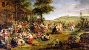 The Kermesse, circa 1635-38 by Peter Paul Rubens
