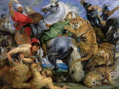 The Tiger Hunt, c.1616 by Peter Paul Rubens