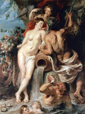 The Union of Earth and Water (Antwerp and the Scheld), C1618 by Peter Paul Rubens
