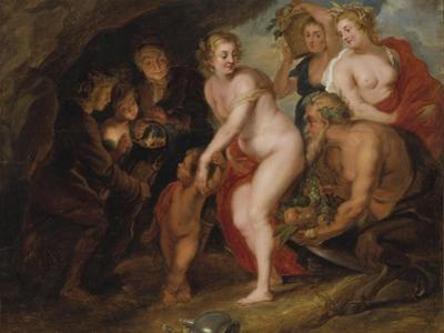 Without Ceres and Bacchus Venus would freeze, c.1650 by Peter Paul Rubens