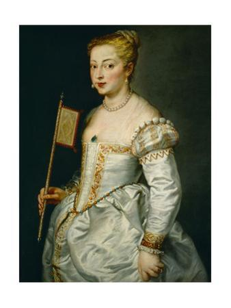 Young woman with fan (after Titian), around 1612-14. Canvas, 96 x 73 cm Inv. 531. by Peter Paul Rubens