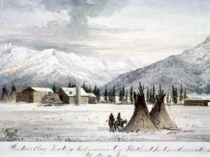 Trading Outpost, C1860 by Peter Petersen Tofft