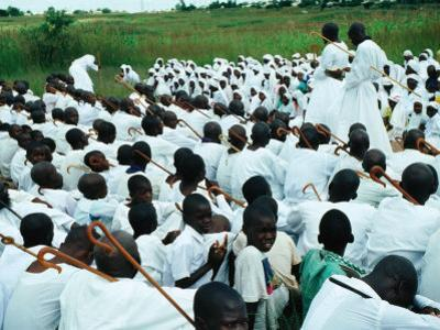 Apostolics Practicing Their Faith, Chitungwiza, Zimbabwe by Peter Ptschelinzew