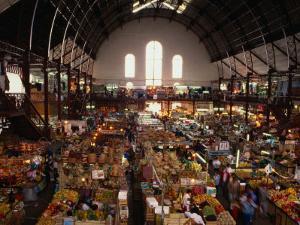 Interior of Main Market, Guadalajara, Mexico by Peter Ptschelinzew