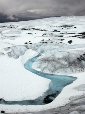 Stream on Top of Mendenhall Glacier Near Juneau by Peter Ptschelinzew