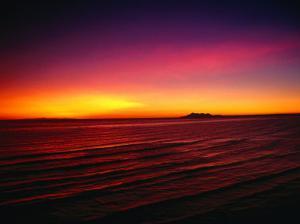 Sunset Over Mar De Cortes, Sea of Cortez, Mexico by Peter Ptschelinzew