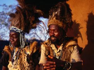 Traditional Healers, Great Zimbabwe, Zimbabwe by Peter Ptschelinzew