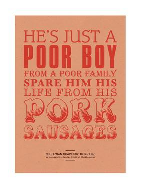 Spare Him His Life from Pork Sausages by Peter Reynolds