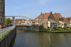 Bascule Bridge (Draw Bridge) and Houses in the Port of Enkhuizen, North Holland, Netherlands by Peter Richardson