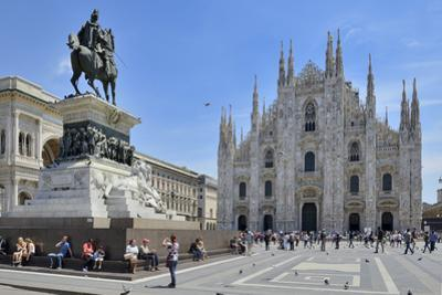 Equestrian Statue of Victor Emmanuel Ii and Milan Cathedral (Duomo), Piazza Del Duomo, Milan by Peter Richardson