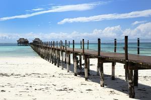 Hotel Jetty, Bwejuu Beach, Zanzibar, Tanzania, Indian Ocean, East Africa, Africa by Peter Richardson