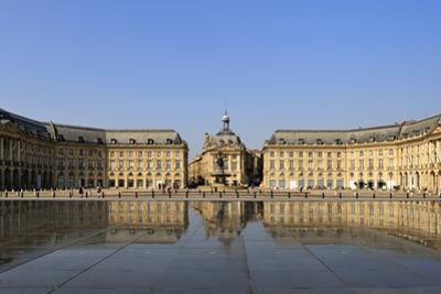 Le Miroir d'Eau (Mirror of Water), Place de la Bourse, Bordeaux, UNESCO Site, Gironde, France