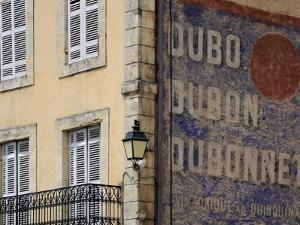 Painted Dubonnet Advert on the Wall of a Building, Belves, Aquitaine, Dordogne, France, Europe by Peter Richardson