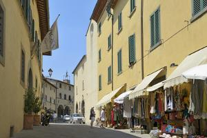 Shops in the Centre of the Old Town, Radda in Chianti, Tuscany, Italy, Europe by Peter Richardson