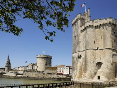 View of the Three Towers at the Entrance to Vieux Port, La Rochelle, Charente-Maritime by Peter Richardson
