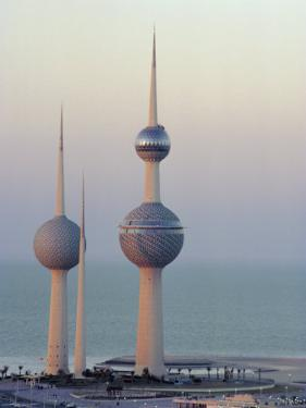 Water Towers, Kuwait City, Kuwait, Middle East by Peter Ryan