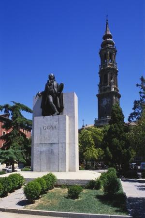 Francisco Goya Monument, Zaragoza, Aragon, Spain by Peter Scholey