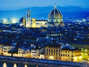 La Badia, San Lorenzo, Cathedral and Campanile, Florence, Italy by Peter Scholey