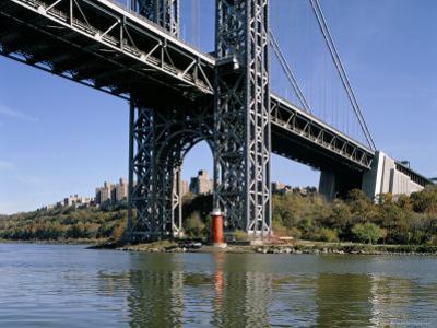 Little Red Lighthouse Under George Washington Bridge, New York, USA by Peter Scholey