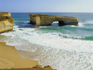 London Bridge, Coastal Feature Along the Great Ocean Road, Victoria, Australia by Peter Scholey
