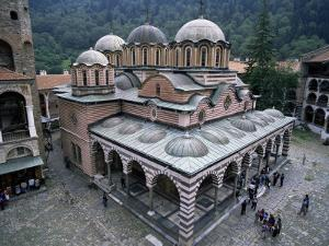 Main Church, Rila Monastery, Unesco World Heritage Site, Bulgaria by Peter Scholey